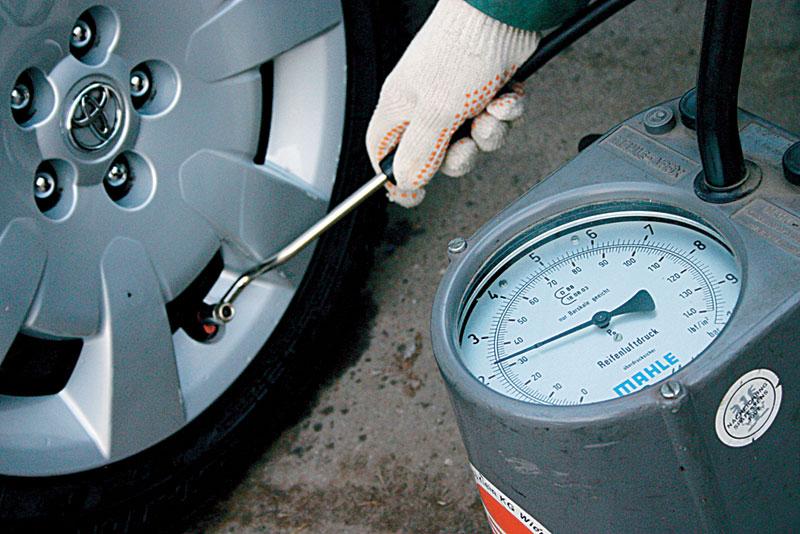 Давление в шинах влияет на расход топлива