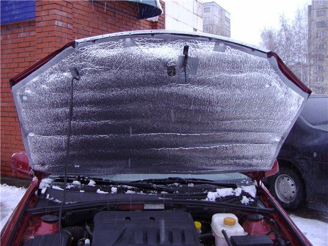Утепление двигателя снижает расход
